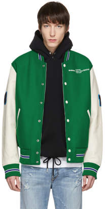 Diesel Green and Off-White L-Harry Varsity Jacket