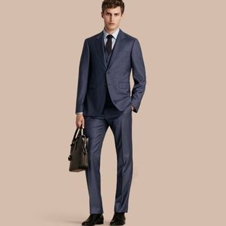 Burberry Modern Fit Travel Tailoring Sharkskin Wool Three-piece Suit $2,295 thestylecure.com