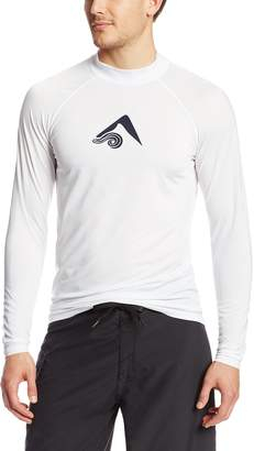 Kanu Surf Men's Long Sleeve Platinum UPF 50+ Rashguard