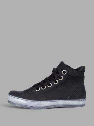 A Diciannoveventitre WOMEN'S BLACK LEATHER SNEAKERS