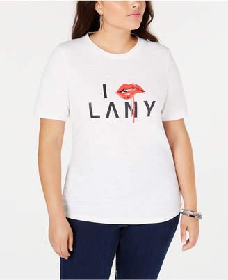 Anthony Logistics For Men Lala Plus Size Cotton Graphic T-Shirt