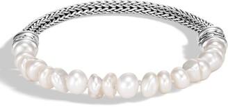John Hardy Classic Chain & Pearl Bracelet