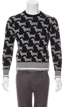 Thom Browne Intarsia Crew Neck Sweater