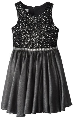 Bonnie Jean Girls 7-16 Sequin Bodice Dress with Shine Skirt