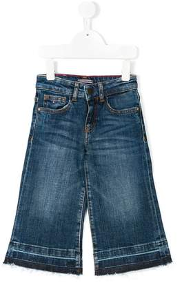 Tommy Hilfiger Junior washed out culotte jeans