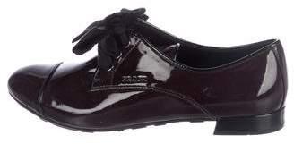 Prada Sport Patent Leather Round-Toe Oxfords