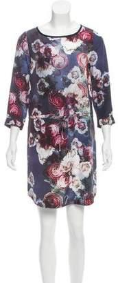 Club Monaco Silk Printed Dress