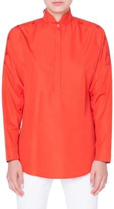 Akris Punto Button Sleeve Tunic Top