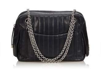 Chanel Vintage Mademoiselle Leather Chain Shoulder Bag