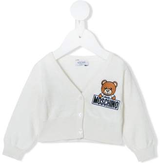 Moschino Kids teddy embroidered cardigan