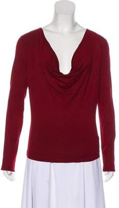 Gucci Long Sleeve Cowl Neck Top