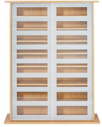 Christian Dior Argos Home York Sliding Door Glass Media Unit - Oak Effect
