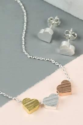 Pink Poodle Boutique Triple Heart Necklace
