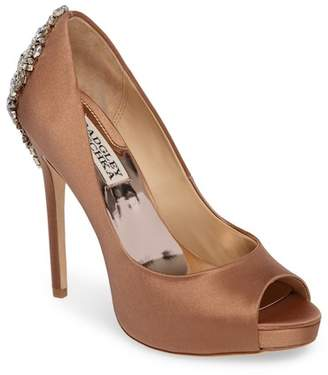 Badgley Mischka Kiara Crystal Embellished Platform Pump