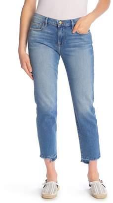 Frame Le Boy Frayed Released Hem Jeans