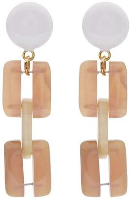 Marni Resin Sixties Clip On Earrings
