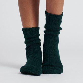 Naadam Signature Cashmere Socks Forest Green