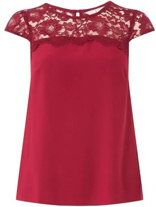 Dorothy Perkins Womens **Billie & Blossom Mulberry Lace Shell Top