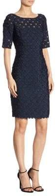 Carmen Marc Valvo Coin Dot Dress