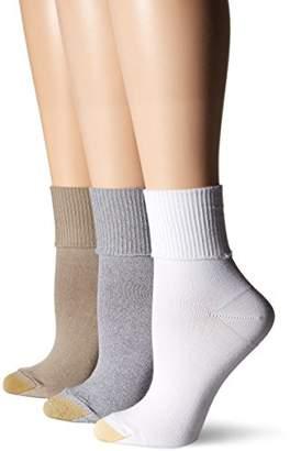 Gold Toe Women's Ultra Soft Providence Turn Cuff Sock 3Pack
