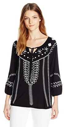 Design History Women's Embroidered Top $88 thestylecure.com