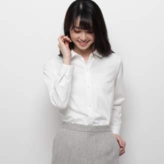 smartpink (スマートピンク) - スマートピンク smart pink 【洗える】ジャージボタンシャツ (ホワイト)
