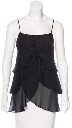 BCBGMAXAZRIA Sleeveless Lace-Accented Top