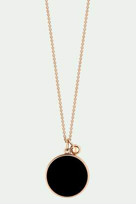 ginette_ny Ever Onyx disc necklace