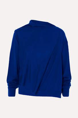 McQ Asymmetric Wool Sweater - Blue
