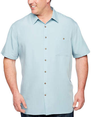 Co THE FOUNDRY SUPPLY The Foundry Big & Tall Supply Short Sleeve Button-Front Shirt-Big and Tall