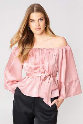 boohoo Wide Sleeve Top Pink