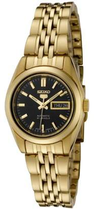Seiko Women's SYMA40K 5 Automatic Dial Gold-Tone Stainless Steel Watch