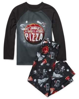 Children's Place The Childrens Place Long Sleeve Pizza Universe Pajama 2 Piece Pant Set (Little Boys & Big Boys)