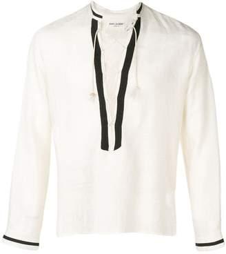 Saint Laurent lace-up tunic