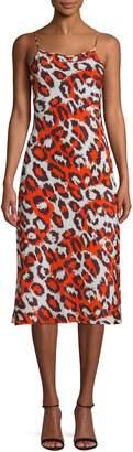Diane von Furstenberg Leopard Print Sleeveless Dress