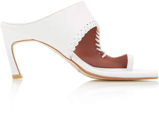 Reike Nen Turnover Cutout Leather Sandals