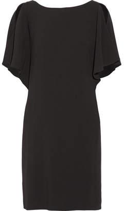 Theory Andzelika Ruffled Crepe Mini Dress - Black