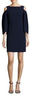 Trina Turk Kaipo Cold Shoulder Shift Dress $298 thestylecure.com