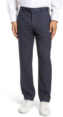 Ted Baker Clifrot Flat Front Stretch Solid Cotton Pants