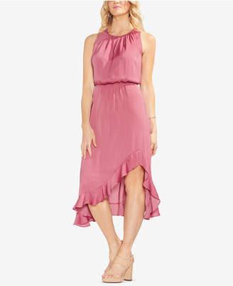 Vince Camuto Solid Ruffle Blouson Dress