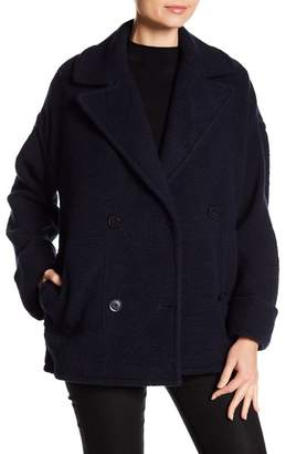 ATM Anthony Thomas Melillo Boucle Knit Pea Coat