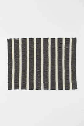 H&M Striped Bath Mat - Black