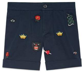 Gucci Children's embroidered bermuda short