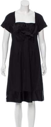 Alberta Ferretti Knit Bow-Accented Dress w/ Tags