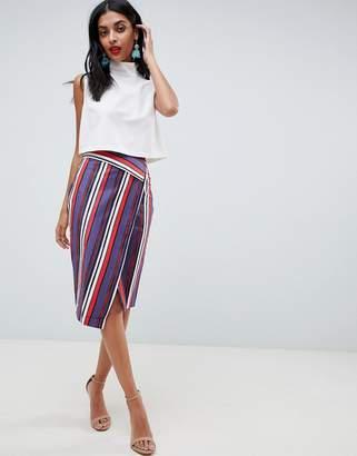 fc96d67ceb9 at ASOS · Closet London Stripe Pencil Skirt