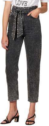 Sandro Fredd Acid Wash High-Waist Jeans