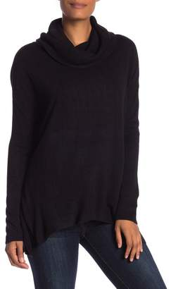 Susina Curved Hem Cowl Neck Sweater (Regular & Petite)