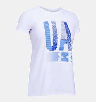 Under Armour Girls' UA Multiplex Logo Short Sleeve T-Shirt