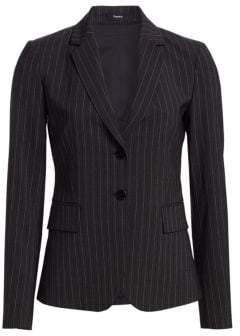 Theory Carissa Pinstripe Suit Jacket