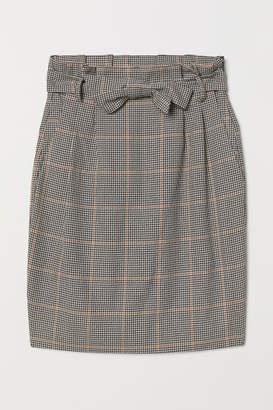 H&M Skirt with Tie Belt - Beige